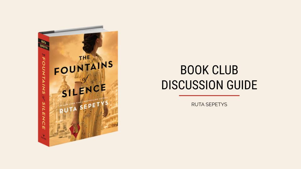 The Fountains of Silence Discussion Guide on iPad